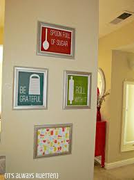 Excellent Decoration Kitchen Wall Art Ideas Simple Colorful Inside Frame On