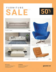 Furniture Sale Flyer By Guuver