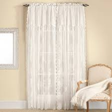 curtains with attached valances walmart anna lace curtain lace