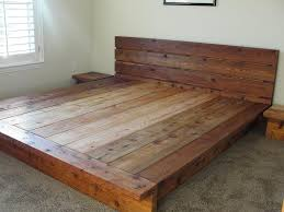 Rustic Platform Bed Frames King