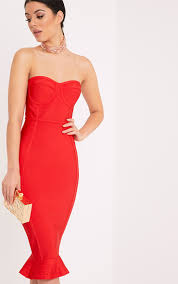 midi dresses cheap mid length dress prettylittlething usa
