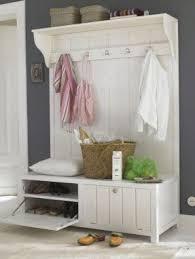 White Coat Rack Bench Combo Mudroom Furniture