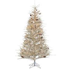 STERLING 7 Ft Pre Lit Pale Sage Frosted Hard Needle Artificial Christmas Tree With