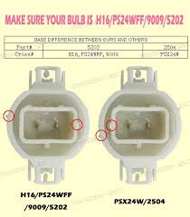2x white 12276 2504 80w led projector fog driving drl light blubs