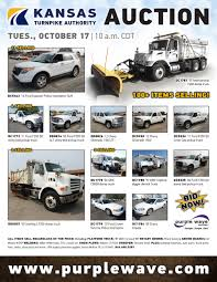 SOLD! October 17 Kansas Turnpike Authority Auction | PurpleW... 2015 Elliott E145 Boom Bucket Crane Truck For Sale Auction Or Jc Madigan Equipment Kansas Forest Service More Than Just Trees State 2013_for150_limited_se_06 Company Kranz Body Co Gallery 2012 Dodge Ram 5500 Flatbed Lease 2003 National 890d Ansi For In City 2005_toyotsienna_limited_ims_rampvan_03