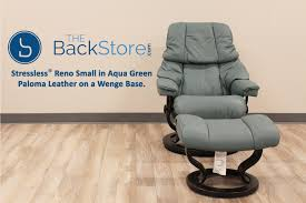 Small Recliner Chairs And Sofas by Stressless Tampa Small Reno Paloma Aquagreen Leather Recliner