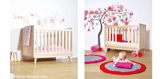 chambre bébé bois naturel le lit bebe en bois massif vogue design et naturel