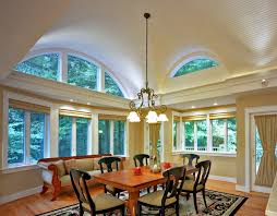 Breakfast Room Addition With Barrel Vaulted Ceiling Traditional Dining