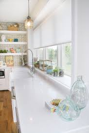 Window Sill Decorating Ideas Kitchen Eclectic With Large Tile Wall Treatments