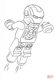 Click The Lego Iron Man Coloring Pages To View Printable
