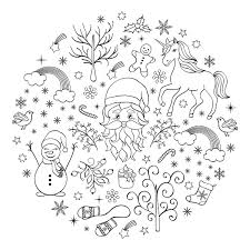 Snowy Tree Coloring Page Gmvcontentcom