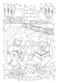 Click To See Printable Version Of A Little Sister With Her Brother Are Reading Tales On
