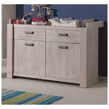 commode chambre bébé commode à langer pour bébé à 2 portes et 2 tiroirs coloris chêne es