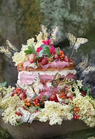 An Invitation To The Spaces Between With Elderflower Rhubarb Fairy Cake