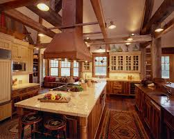 KitchenAdmirable Spanish Style Kitchen With Glossy Backsplash And Wood Ceiling Beautiful Rustic