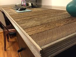 Reclaimed Wood Desk Top Office Furniture Modern Custom Small Desk Custom Sizes Eclectic Modern Chic Wood Desk X Base Custom