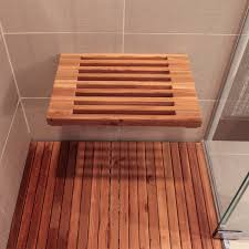 Best Folding Teak Shower Bench TEAK FURNITURESTEAK FURNITURES