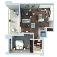 Small Apartment Building Design Ideas by Last Choice Kitchen In Front Apartment 3d Floor Plan By