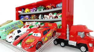 100 Disney Cars Mack Truck Hauler Pixar Car Carry Case Learning Colours
