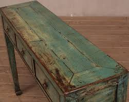 sideboard antik 3 schubladen türkis