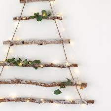 Christmas Tree Watering Device Homemade by Birch Branch Hanging Christmas Tree With Snow Dusting By