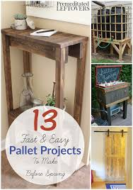 13 Easy DIY Pallet Projects These 13 easy building tutorials use