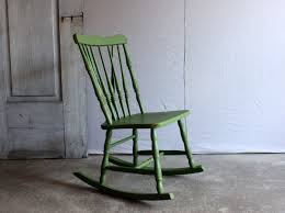Vintage Child's Rocking Chair Small Wooden Rocker Painted Green ...