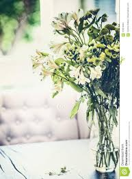 100 Flannel Flower Glass Summer S Bunch In Vase On Table In Living Room With