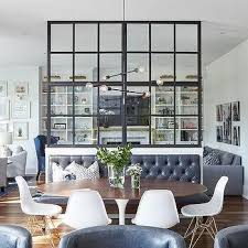 Living Room Partition Ideas Steel And Glass Dining Design