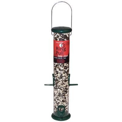 Droll Yankees Ring Pull Tube Seed Feeder - Forest Green, 15""