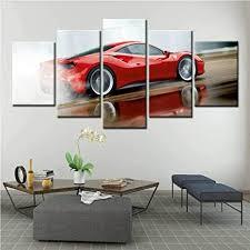 37tdfc 5 leinwandbilder 5 teiliges rot sport auto