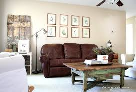 amazing brown couch living room leather loveseat brown leather