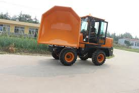 China 3ton 4WD Diesel Front Tipping 180 Swivel Small Dumper Truck ...