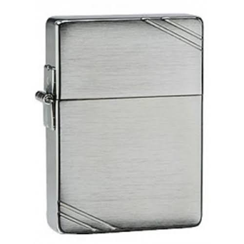 Zippo 1935 Replica With Slashes Windproof Lighter - Brushed Chrome