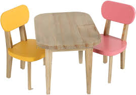 Maileg Rabbit Wooden Table And 2 Chairs - Yellow And Pink. Buy ...