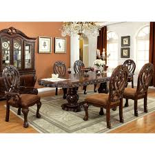 Furniture Of America Beaufort Formal 7-Piece Dining Set ... Cherry Wood Ding Table And Chairs Chateau De Ville Formal Room With Leatherette Rowena Cream White Fniture Suitable Add Ding Room Wall Rustic Finish Woptions Coaster Tabitha Double Pedestal Pc Set Seat In Black Style Kincaid Park Group Traditional Kitchen Fancy Elegant Cherry Wood Formal Sets Cityofchelmsrdinfo