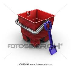 3D Render Of A Bucket And Spade