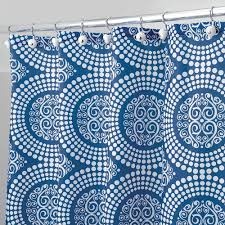 Blue Medallion Curtains Walmart by Interdesign Medallion Fabric Shower Curtain Various Sizes