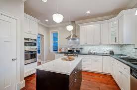 kitchen white shaker kitchen cabinets retro pendant lighting oak
