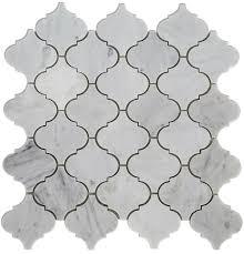 16 95 carrara bianco polished arabesque marble mosaic tile