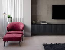 meuble mural chambre design interieur chambre grise meuble tv mural carrelage gris