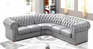 canapé d angle capitonné deco in canape d angle capitonne cuir chesterfield gris