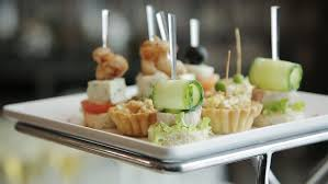 canapes design beautiful design canapes snacks on a buffet table stock footage