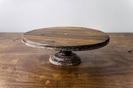 Cake Stand Pedestal Rustic