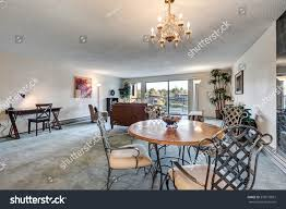 Open Concept Living Dining Area Accented Stock Photo (Edit ...