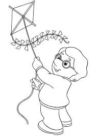 Charlie Pringle Trying To Fly A Kite In Postman Pat Coloring Pages