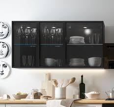 hängeschrank w2s 40 und w3s 60 schwarz aluminium breite wählbar