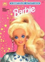 Vintage 1992 Barbie Coloring Book By Golden