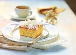 kokos mandel kuchen mit weißer schokolade