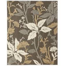 Home Decorators Collection Blooming Flowers Gray 9 ft 3 in x 12
